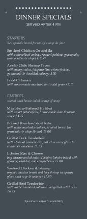 Customize Smoothie Cafe Half Page Menu