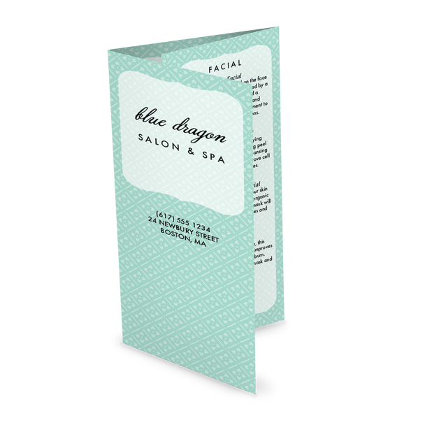 Customize Spa Beauty Trifold Menu