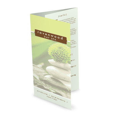 View Spa Treatment Trifold Menu