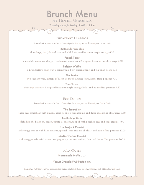 Customize Special Event Menu