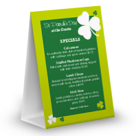 Irish Shamrock Table Tent