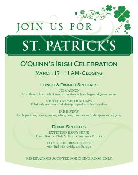 St Patricks Day Flier
