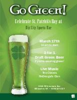 St Patricks Day Specials Flyer