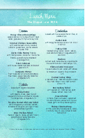 Summer Cafe Menu