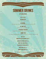 Summer Drinks Menu