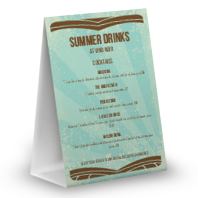Summer Drinks Table Tent