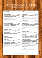 A4 Tequila Bar Menu