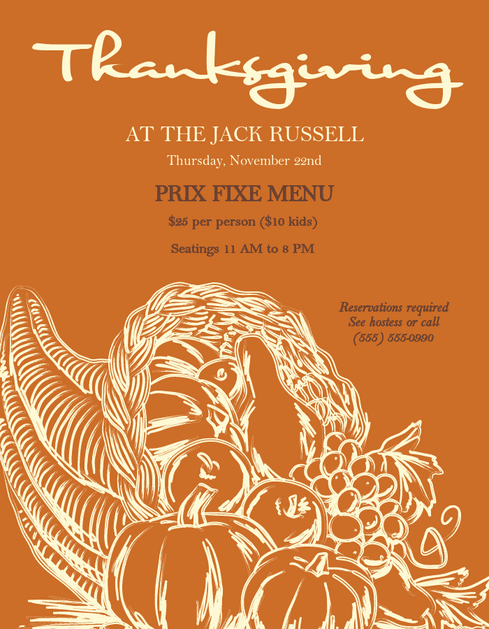 Thanksgiving Flyer Templates And Designs Musthavemenus