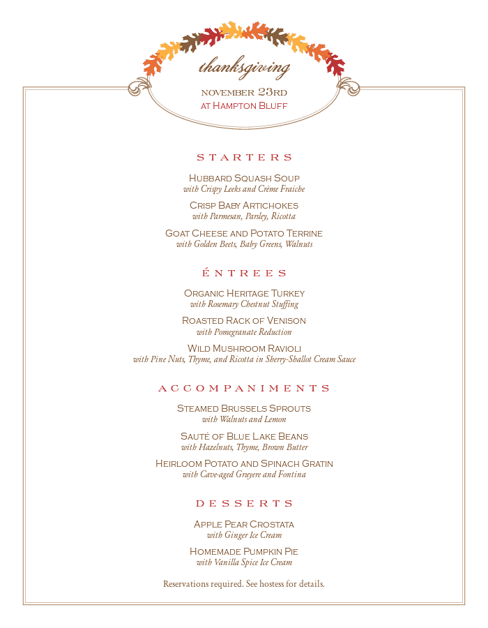 thanksgiving menu templates and designs musthavemenus