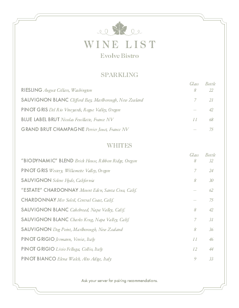 Customize Top Wine List