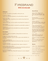 Traditional Steakhouse Menu