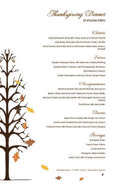 Customize Traditional Thanksgiving Menu