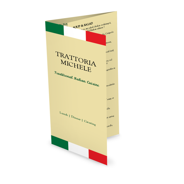Customize Trattoria Italian Takeout Menu