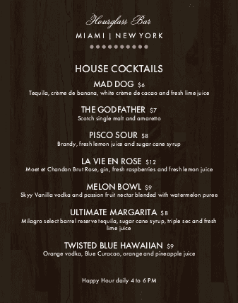 Customize Urban Bar Menu Poster