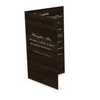 Urban Bar Trifold Menu