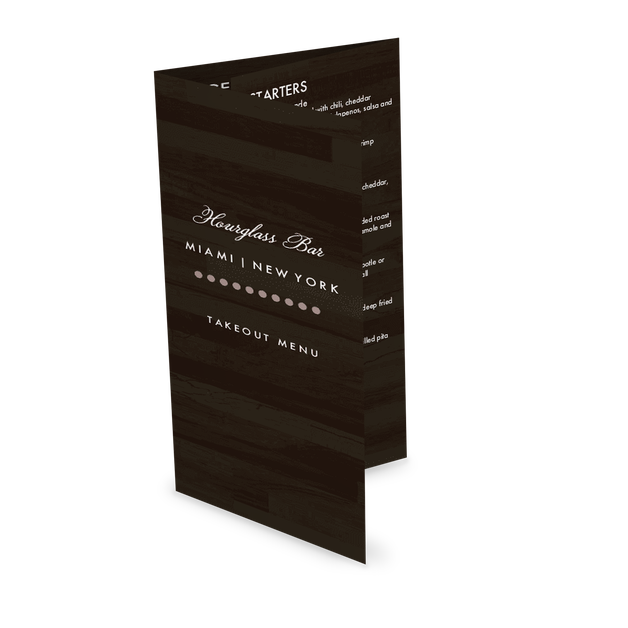 Customize Urban Bar Trifold Menu