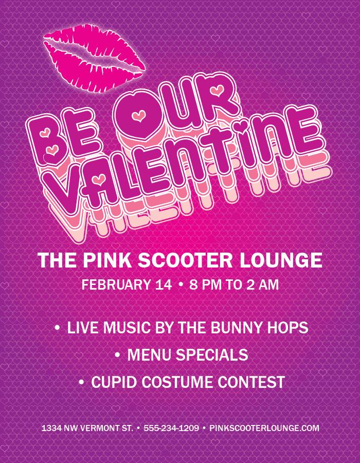 Bar Valentines Day Flyer