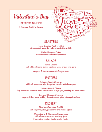 Valentines Day Menu Design Templates By Musthavemenus