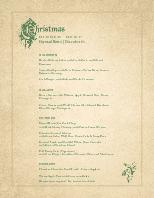 Victorian Christmas Menu